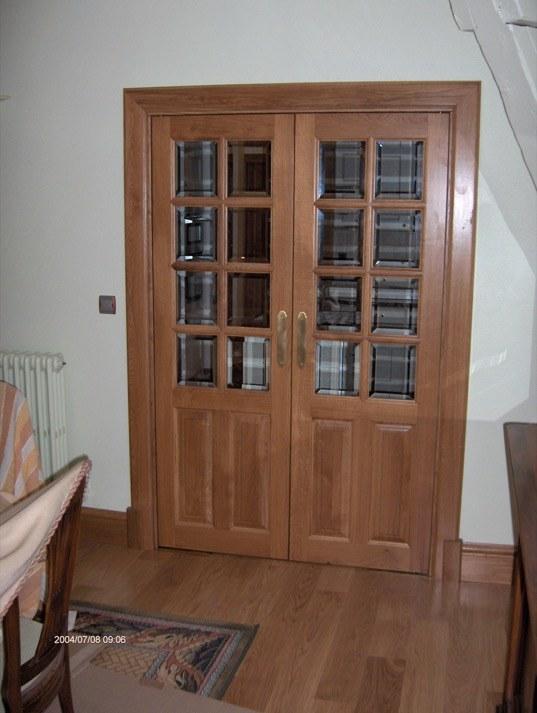 Porte d int rieur ch ne petits carreaux menuiserie for Porte interieure vitree petit carreaux